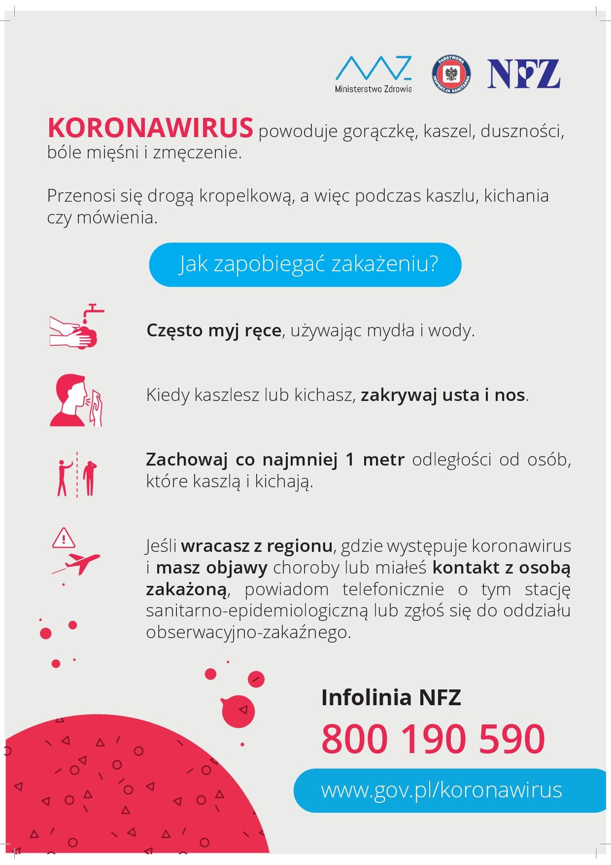 koronawirus postępowanie